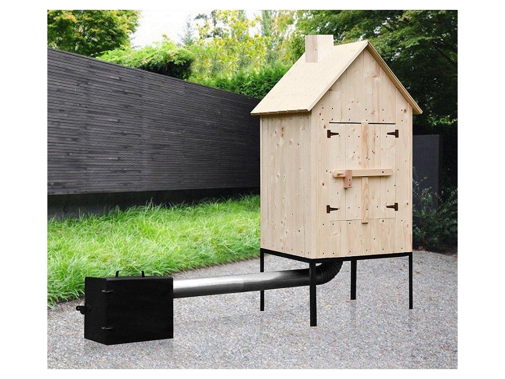 Zahradní udírna TOHOS KOMPLET SET velká, 66x57x115 cm
