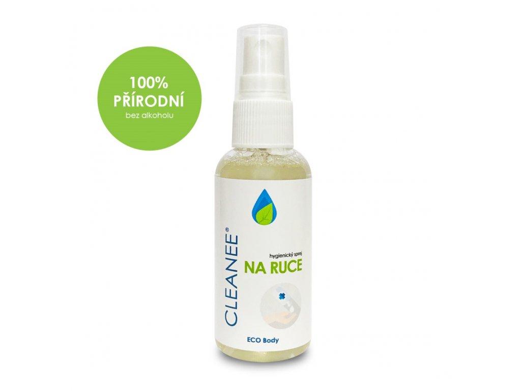 cleanee eco hygienicky sprej na ruce prirodni 50 ml