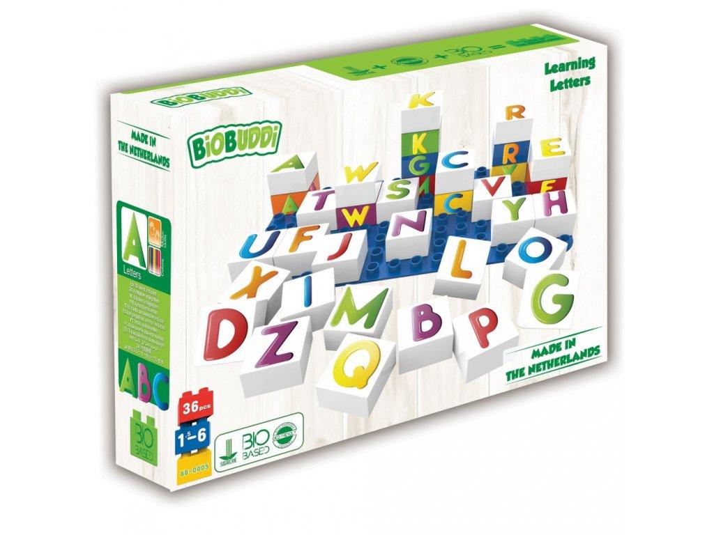 566 BiOBUDDi stavebnice Learning Letters Young Ones pismena 35 ks 1 ks zakladni deska 18 M