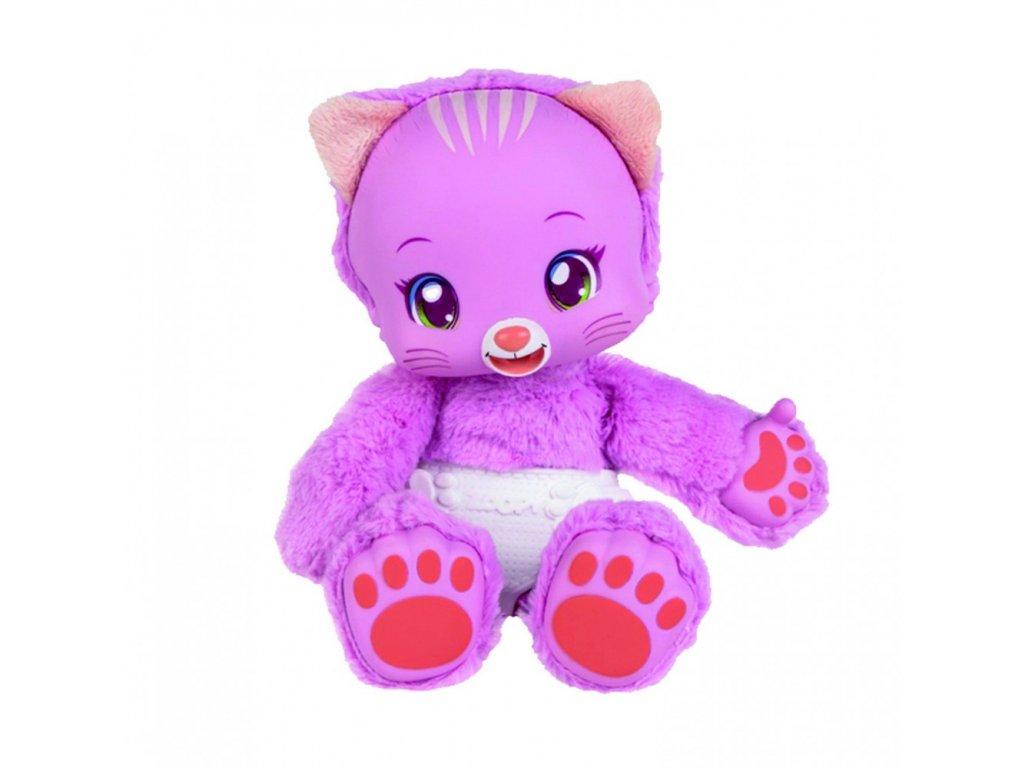 588 Zoopy Babies kocicka plysova 24cm tlapky svitici ve tme na baterie se zvukem 12 M