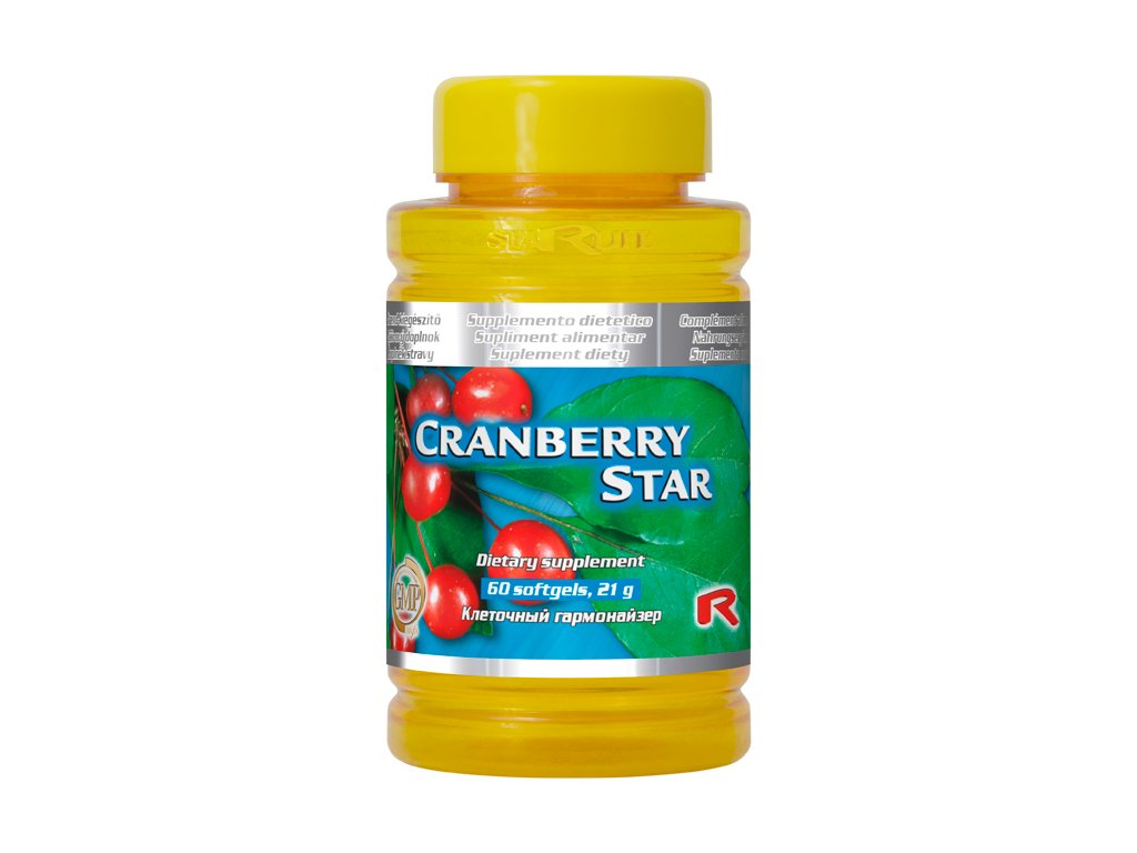CRANBERRY STAR, 60 sfg - klikva velkoplodá, vitamin C, vitamin E