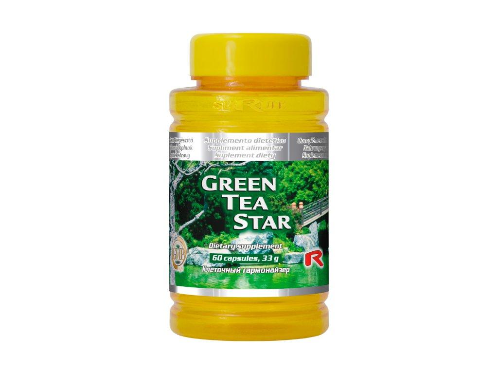 GREEN TEA STAR, 60 cps - zelený čaj – duševní pohoda