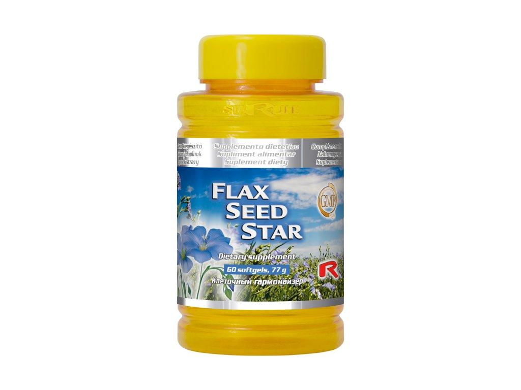 FLAX SEED STAR, 60 sfg - Lněné semínko .zdravé trávení