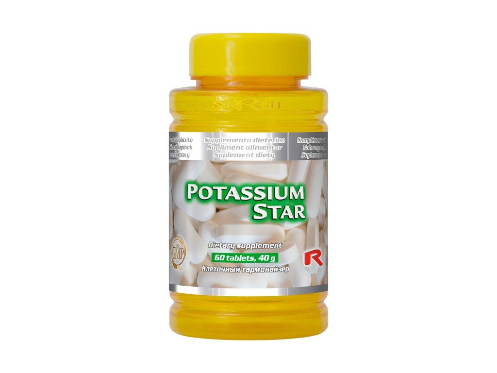 POTASSIUM STAR, 60 tbl - draslík – stabilita vnitřního prostředí