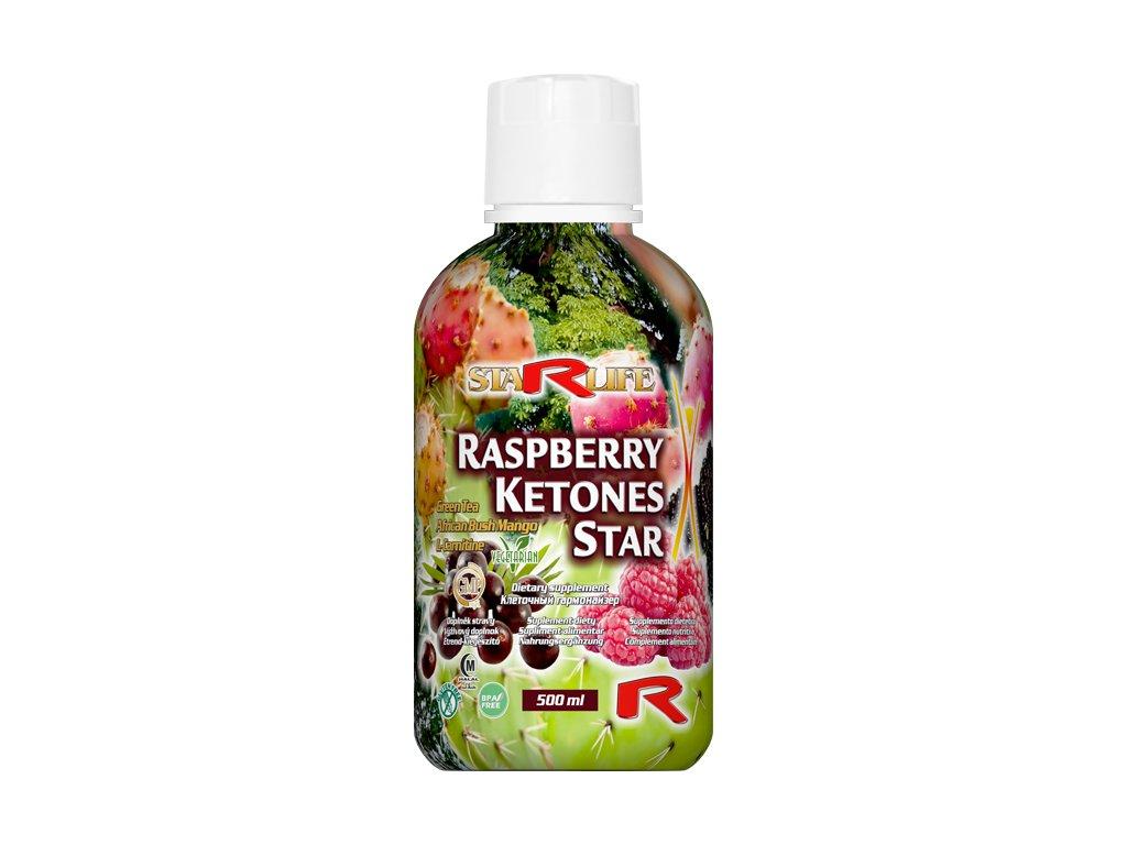 RASPBERRY KETONES STAR, 500 ml - malinové ketony - trávení