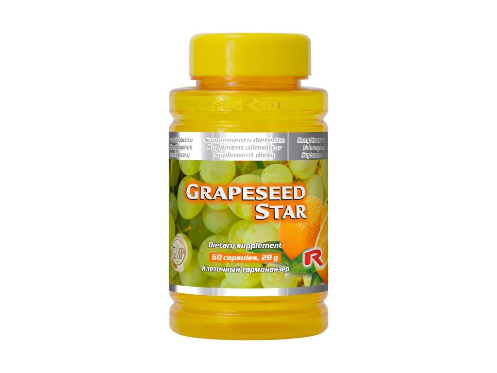 GRAPESEED STAR, 60 cps - jadérka vinných hroznů