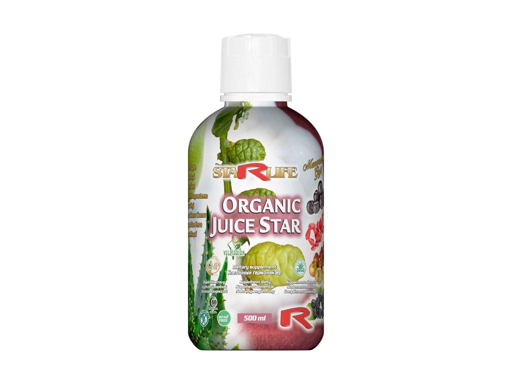 ORGANIC JUICE STAR, 500 ml - juice, který vám nikdo nikde nenamíchá