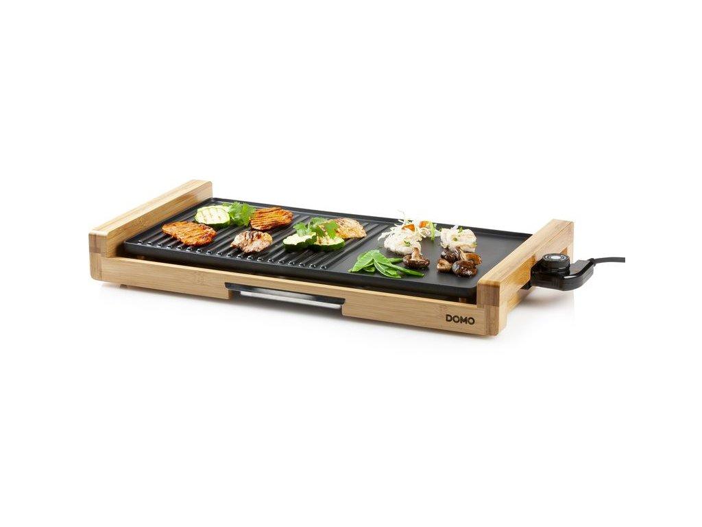 Elektrický stolní gril - bambusový - DOMO DO8311TP