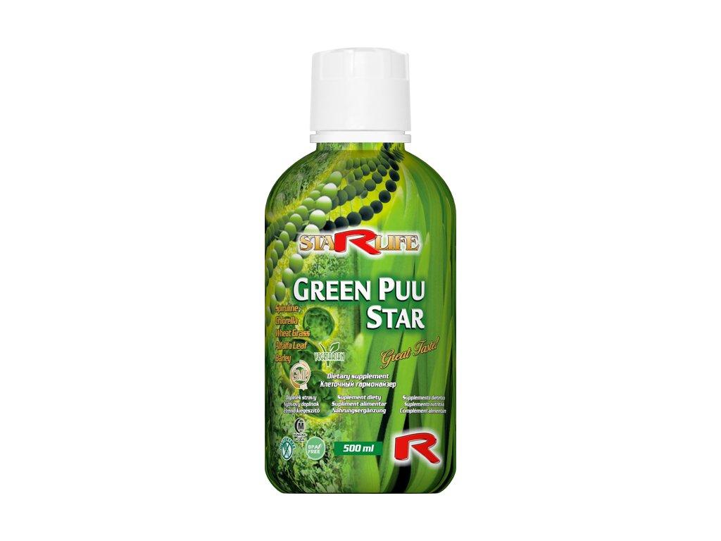 GREEN PUU STAR, 500 ml - unikátní zelená směs pro trávicí ústrojí
