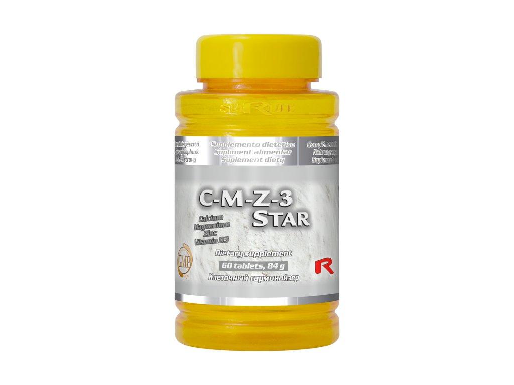 C-M-Z-3 STAR, 60 tbl - vápník, hořčík, zinek