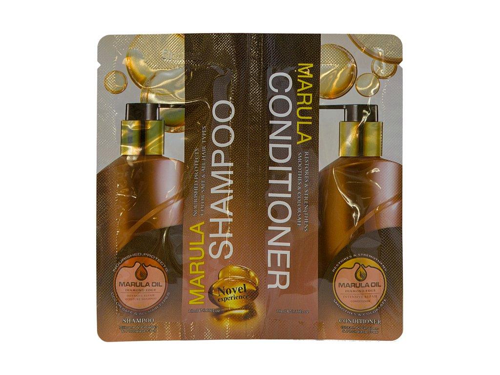 MARULA SHAMPOO + CONDITIONER – SAMPLE, 10 + 10 ml - šampon a kondicionér na vlasy