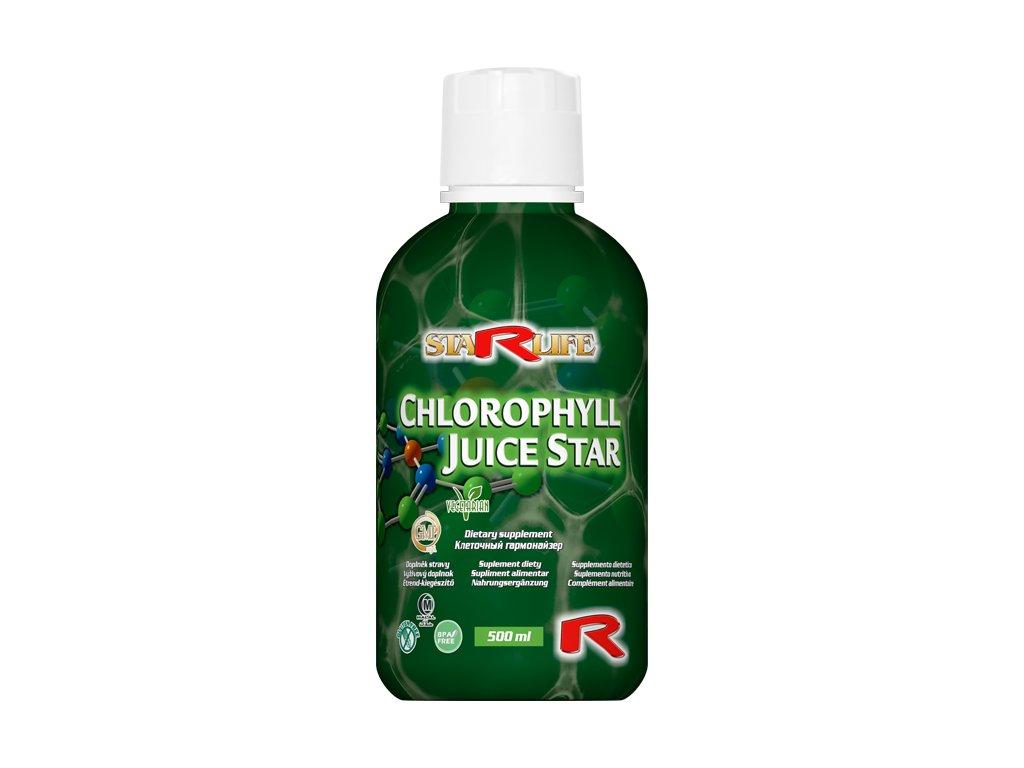 CHLOROPHYLL JUICE STAR, 500 ml - podpora svalů, nervů a srdce