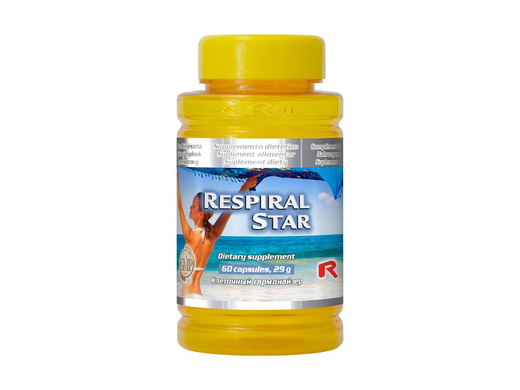 RESPIRAL STAR, 60 cps - byliny – posílení dýchacích cest