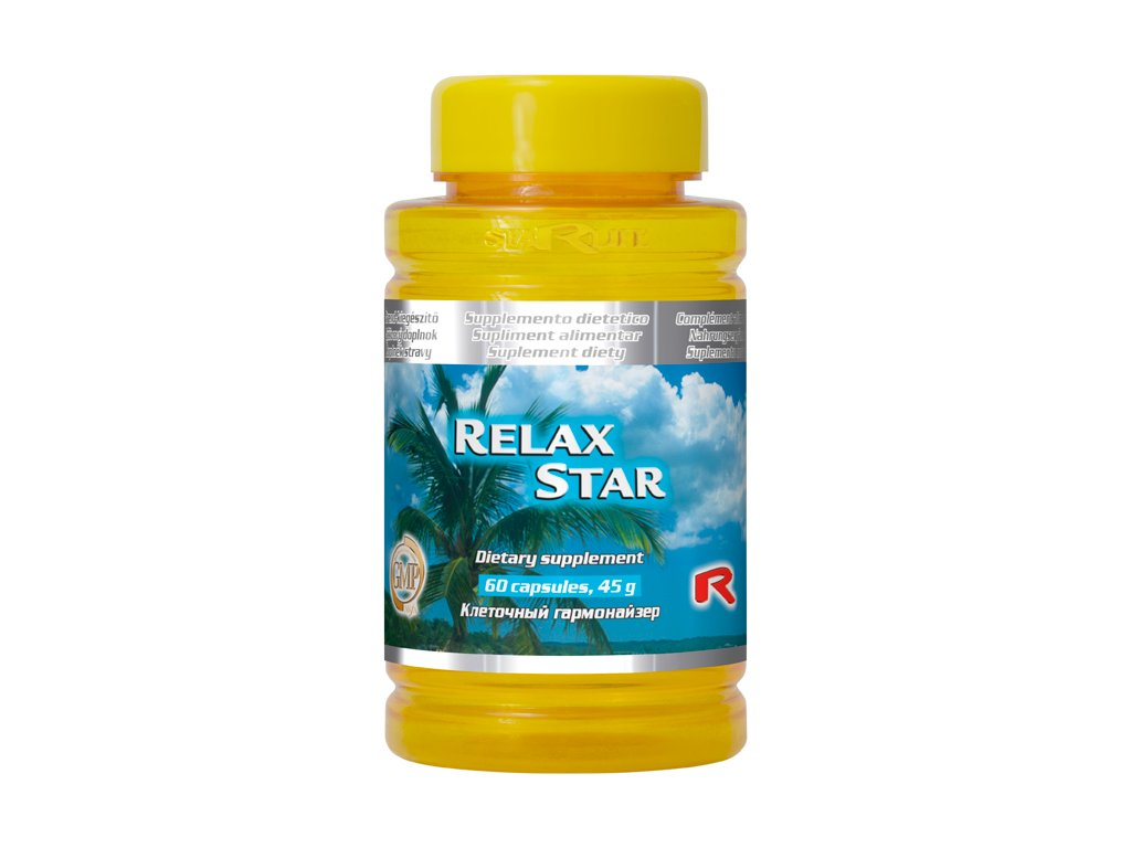 RELAX STAR, 60 cps - byliny – relaxace, vitalita