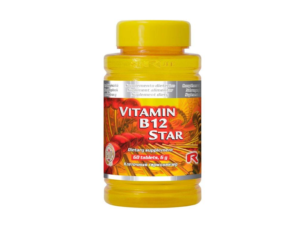 VITAMIN B12 STAR, 60 tbl - činnost nervové soustavy