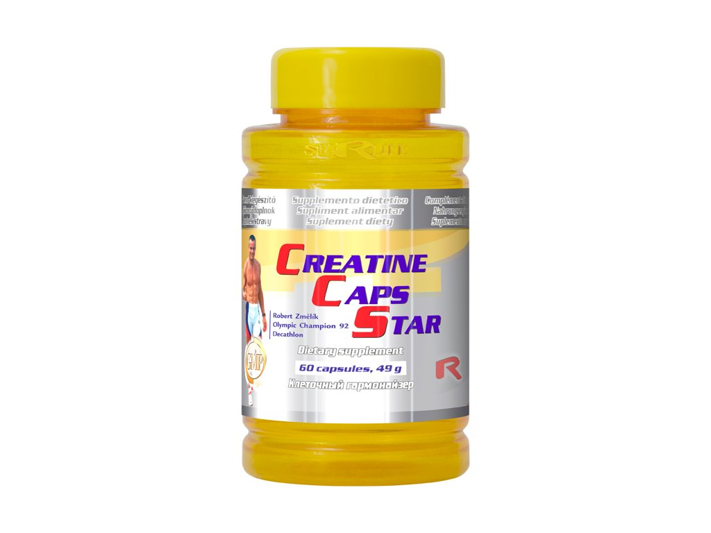 CREATINE CAPS STAR, 60 cps - kreatin monohydrát – fyzický výkon