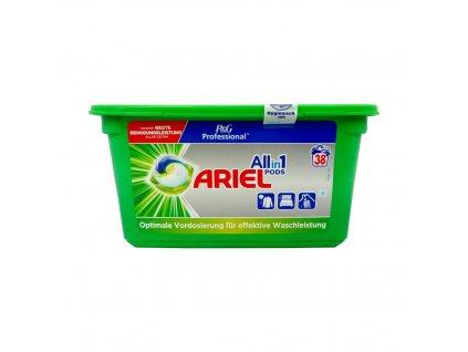 Ariel (USA) ARIEL PROFESSIONAL ALL IN 1 Prací kapsle 38ks Ariel prací kapsle: UNIVERSAL (zelené)