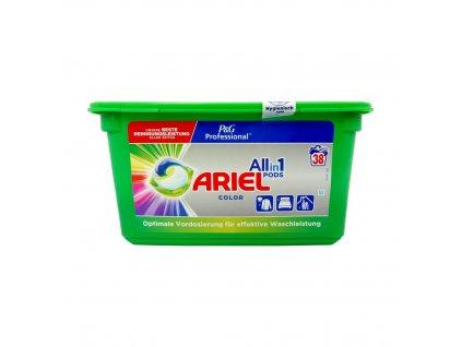 Ariel (USA) ARIEL PROFESSIONAL ALL IN 1 Prací kapsle 38ks Ariel prací kapsle: COLOR (barevné)