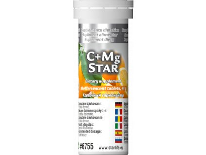 C+Mg STAR, 10 tbl - vitamin C, hořčík