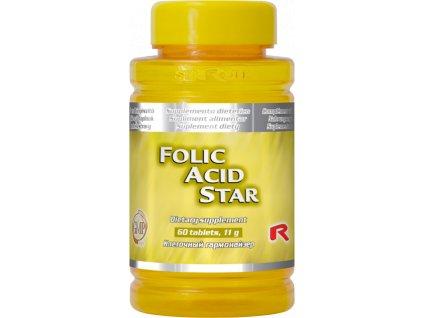 FOLIC ACID STAR, 60 tbl - kyselina listová, vitamin B9