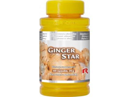 GINGER STAR, 60 cps - zázvor – trávicí ústrojí