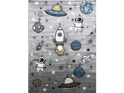 Berfin Dywany AKCE: 120x180 cm Dětský koberec Smart Kids 22924 Grey - 120x180 cm