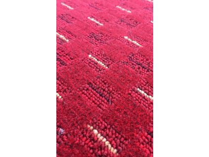 Vopi koberce AKCE: 200x50 cm s obšitím Běhoun na míru Valencia červená - šíře 50 cm s obšitím