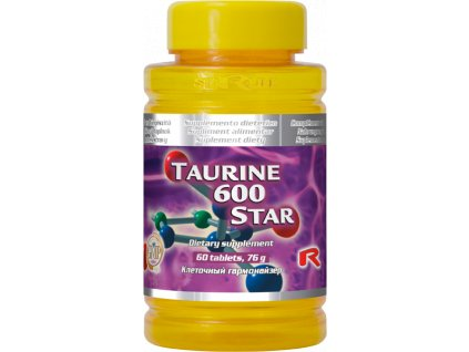 TAURINE 600 STAR, 60 tbl - taurin – fyzické zatížení organismu