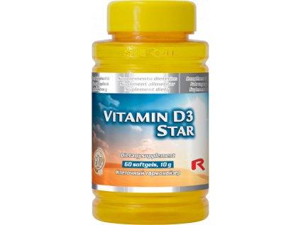 VITAMIN D3 STAR, 60 sfg - imunita, normální stav kostí a svalů