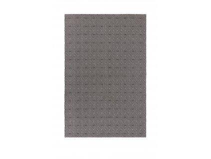 Flair Rugs koberce AKCE: 192x290 cm Kusový koberec Cotone Pappel Black/Cream - 192x290 cm