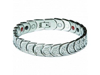 Bracelet AMY silver, 1 pcs - Elegantní magnetický náramek