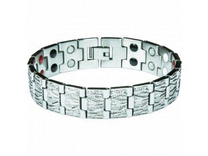 Bracelet ALEX silver, 1 pcs - Elegantní magnetický náramek