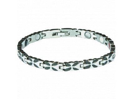 Bracelet LIZZY black + silver, 1 pcs - Elegantní magnetický náramek