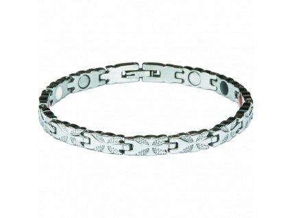 Bracelet LIZZY silver, 1 pcs - Elegantní magnetický náramek