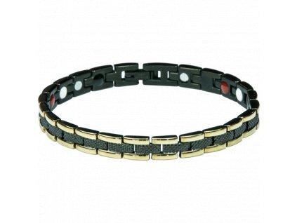 Bracelet KRIS black + gold, 1 pcs - Elegantní magnetický náramek