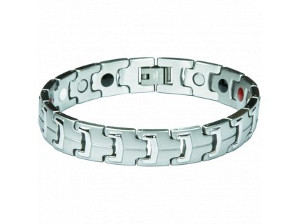 Bracelet LINDSAY silver, 1 pcs - Elegantní magnetický náramek
