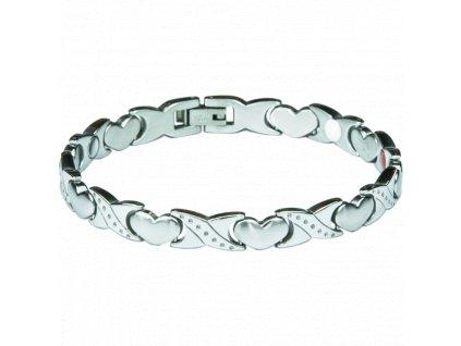 Bracelet ROSE silver, 1 pcs - Elegantní magnetický náramek