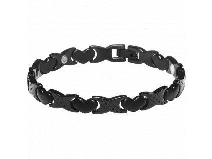 Bracelet ROSE black, 1 pcs - Elegantní magnetický náramek