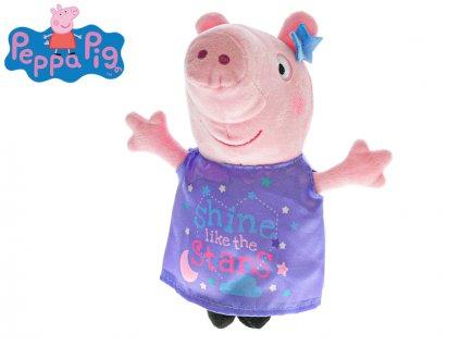 Peppa Pig Happy Party 31cm plyšový fialové oblečení 0m+
