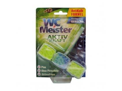 WC Meister (Německo) WC MEISTER AKTIV KRAFT Tuhý WC blok 1 x 45g Vůně WC Meister blok: Pine (zelená) – borovice