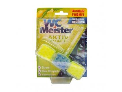 WC Meister (Německo) WC MEISTER AKTIV KRAFT Tuhý WC blok 1 x 45g Vůně WC Meister blok: Zitrone (žlutá) – citron