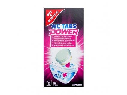 Gut und Günstig (Německo) G&G POWER WC TABS Čisticí tablety do WC vůní citrónu 16ks