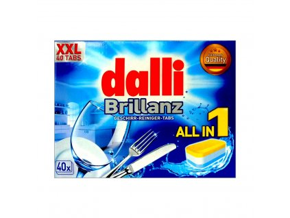 Dalli (Německo) DALLI BRILLANZ ALL IN 1 Tablety do myčky 40ks