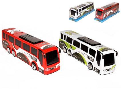 Autobus 35cm na setrvačník 2barvy v krabičce