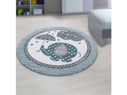 Ayyildiz koberce AKCE: 120x120 (průměr) kruh cm Dětský kusový koberec Kids 570 blue kruh - 120x120 (průměr) kruh cm