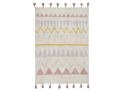 Lorena Canals koberce AKCE: 120x160 cm Ručně tkaný kusový koberec Azteca Natural-Vintage Nude - 120x160 cm