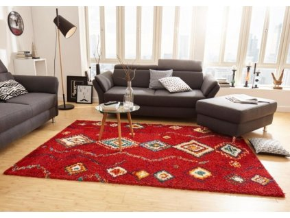 Mint Rugs - Hanse Home koberce AKCE: 200x290 cm Kusový koberec Nomadic 102692 Geometric Rot - 200x290 cm