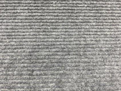 Vopi koberce AKCE: 57x120 cm Metrážový koberec Quick step šedý - Rozměr na míru bez obšití cm