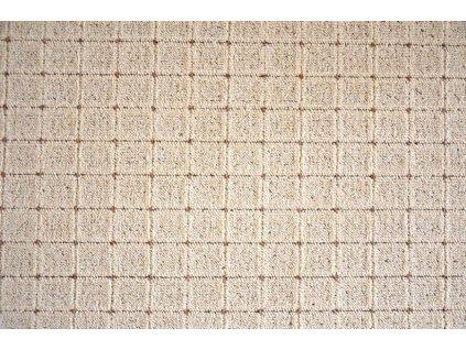 Vopi koberce AKCE: 100x500 cm Metrážový koberec Udinese béžový - Rozměr na míru s obšitím cm