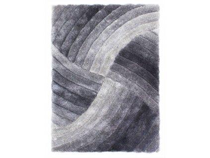 Flair Rugs koberce AKCE: 80x150 cm Kusový koberec Verge Furrow Grey - 80x150 cm